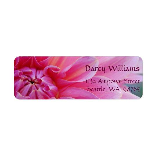 Dahlia Flowers Return Address Label