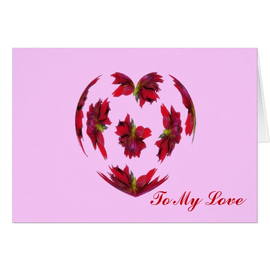 Dahlia Heart Card
