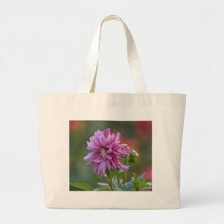 dahlia in the garden large tote bag