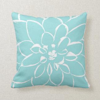 Dahlia Limpet Shell   Blue Throw Pillow