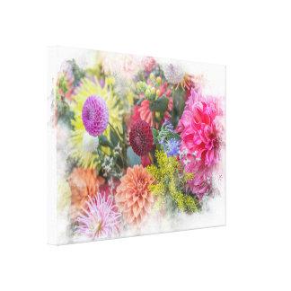 Dahlia Mania Gardener's Delight Canvas Print