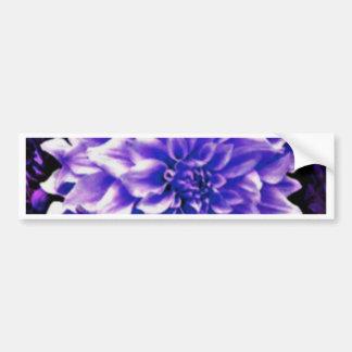 Dahlia pale lilac bumper sticker