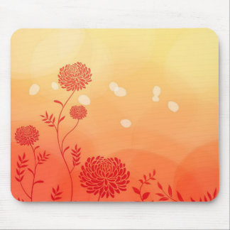 Dahlia Petal Stencil Floral Digital Art Mouse Pad