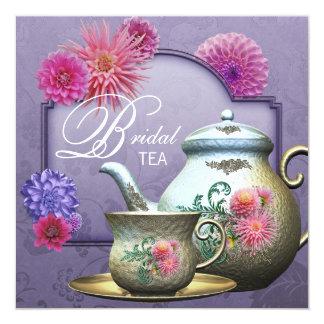 Dahlia Pink Purple Bridal Tea Shower Personalized Announcement