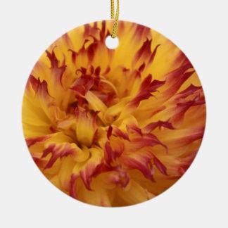 Dahlia Round Ceramic Decoration
