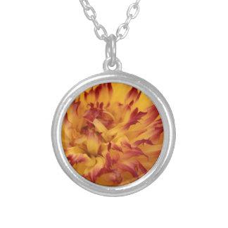 Dahlia Round Pendant Necklace