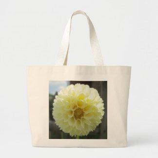 Dahlia Sunlit Yellow Flower Canvas Bags