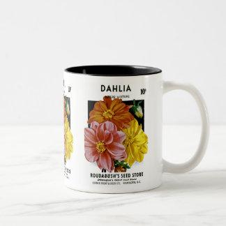 Dahlia Vintage Seed Packet Mugs