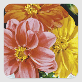 Dahlia Vintage Seed Packet Square Sticker