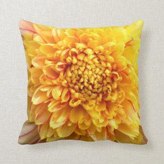 dahlia with yellow center cushion