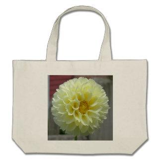 Dahlia Yellow Angle Flower Tote Bags