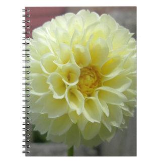 Dahlia Yellow Angle Flower Notebook