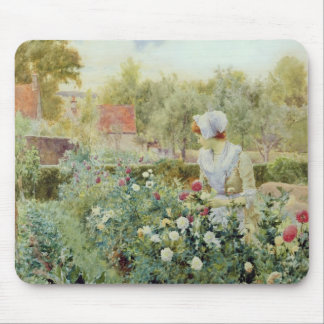 Dahlias, 1896 mouse mat