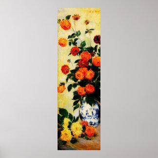 Dahlias 1, 1883 poster