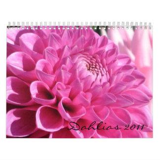 Dahlias 2011 Calendar