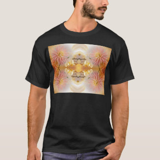 Dahlias and Orchids flowers in reflect T-Shirt