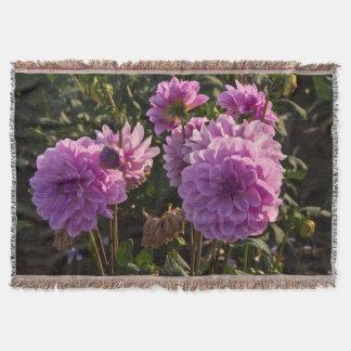 Dahlias, dahlia farm, Canby, Oregon, USA 5 Throw Blanket