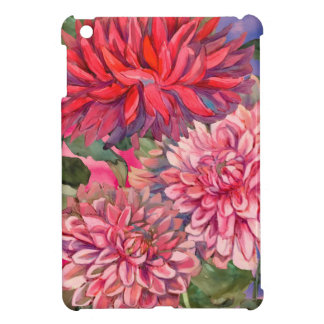 dahlias flowers watercolor case for the iPad mini