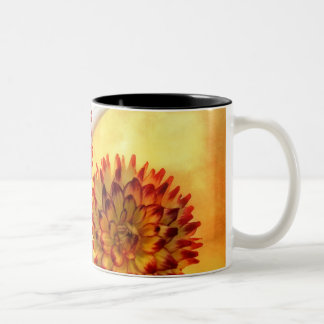Dahlias in Autumn Two-Tone Coffee Mug