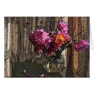 Dahlias in the Window Card