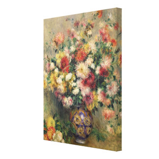 Dahlias (oil on canvas) stretched canvas print