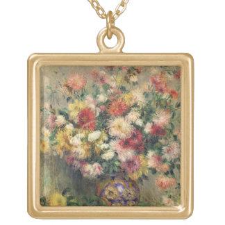 Dahlias (oil on canvas) pendants