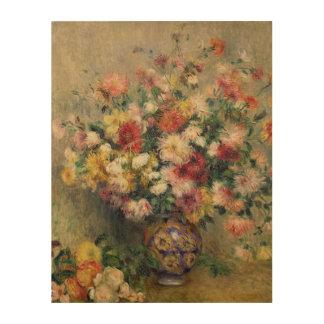 Dahlias (oil on canvas) wood canvas