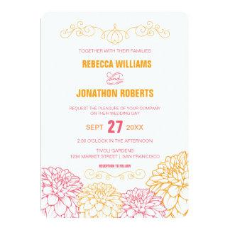 Dahlias Wedding Invitation