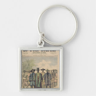 Dahomeans on the Champs de Mars Silver-Colored Square Key Ring