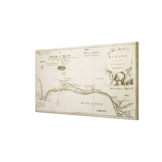 Dahomey and its Environs, from 'The History of Dah Canvas Print