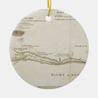Dahomey and its Environs, from 'The History of Dah Christmas Ornament