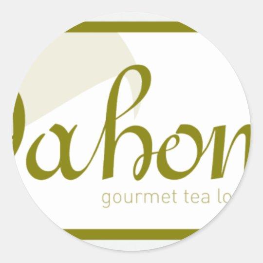 dahon logo classic round sticker