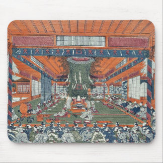 Daidai Kagura performance by Utagawa,Toyoharu Mousepad