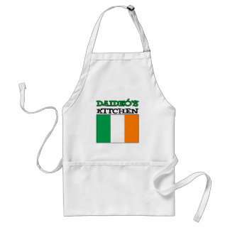 Daideo's Kitchen With Flag Of Ireland Standard Apron