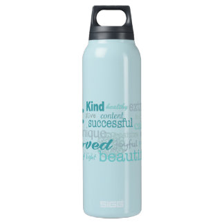 Daily Affirmations Insulated Water Bottle