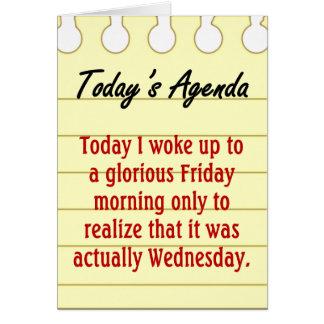 Daily Agenda Cards