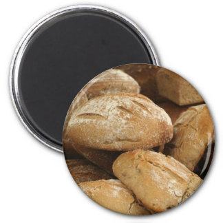daily bread 6 cm round magnet
