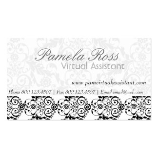 Daily Dose of Charm Elegant Modern  Royal Damask Pack Of Standard Business Cards