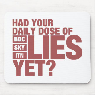 Daily Dose of Lies (UK Media) Mouse Mat
