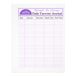 Daily Exercise Page, For Lifestyle Change 21.5 Cm X 28 Cm Flyer