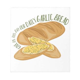 Daily Garlic Bread Notepad