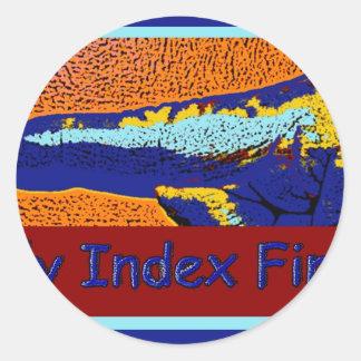 Daily Index Finger Logo Sticker