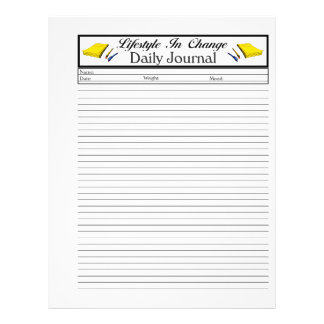 Daily Journal lifestyle change page 21.5 Cm X 28 Cm Flyer