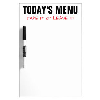 Daily Menu funny quote meal plan dry erase board