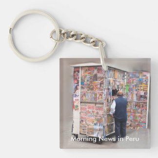 Daily News in Peru - Customizable Text Key Ring