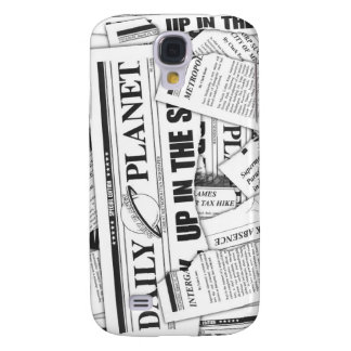 Daily Planet Pattern - White Galaxy S4 Case