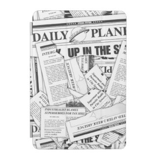 Daily Planet Pattern - White iPad Mini Cover
