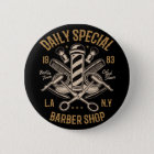Daily Special Barber Shop Cut And Shave 6 Cm Round Badge