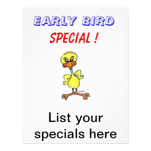 Daily Specials Flyers for Diner