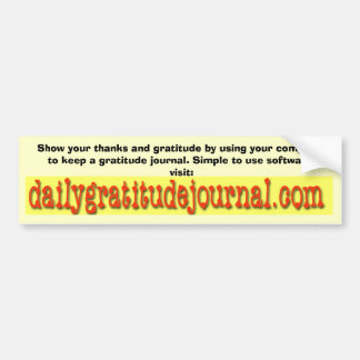 dailygratitudejournal_edited-1, Show your thank... Bumper Stickers
